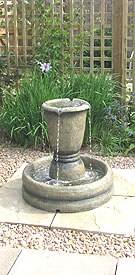 Water Feature a Yorkshire landscaped Garden